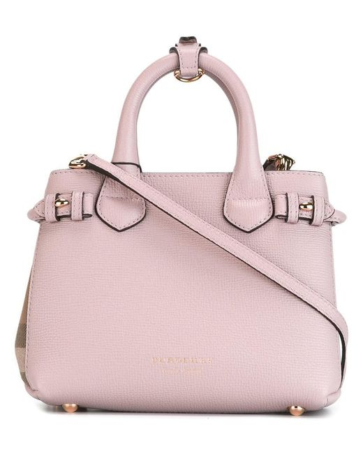 Burberry | Pink Mini 'banner' Tote | Lyst