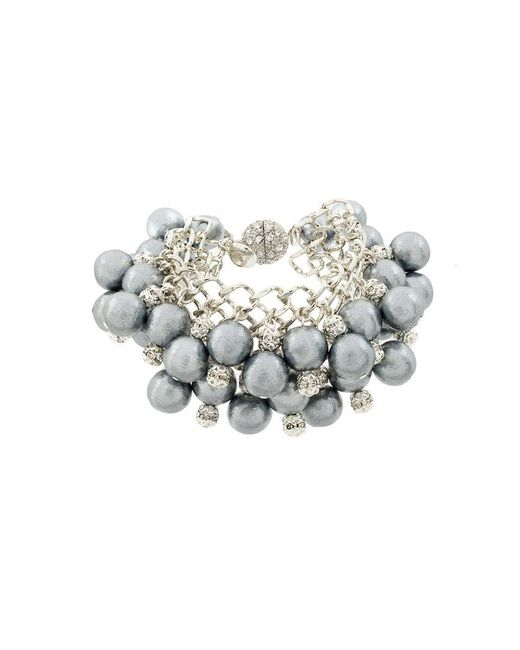 Moy Paris - Metallic Beaded Pendant Bracelet - Lyst