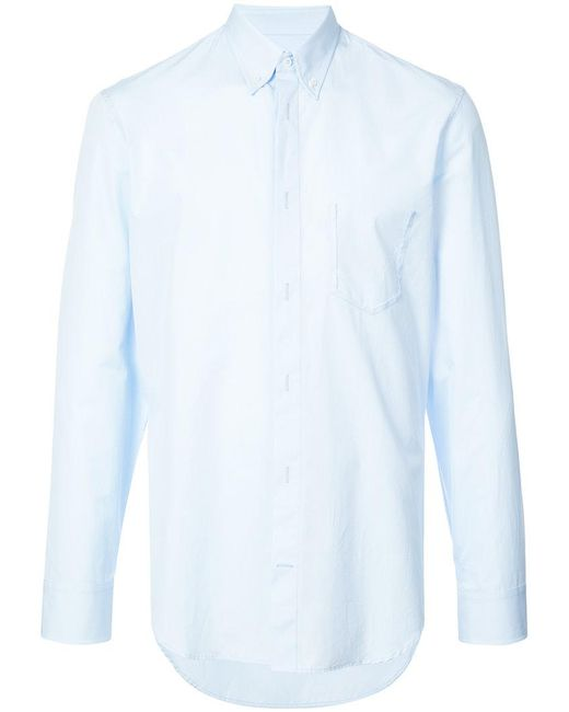 Store Online Really Cheap Online classic long-sleeve fitted shirt - Blue Maison Martin Margiela OuKhhrD