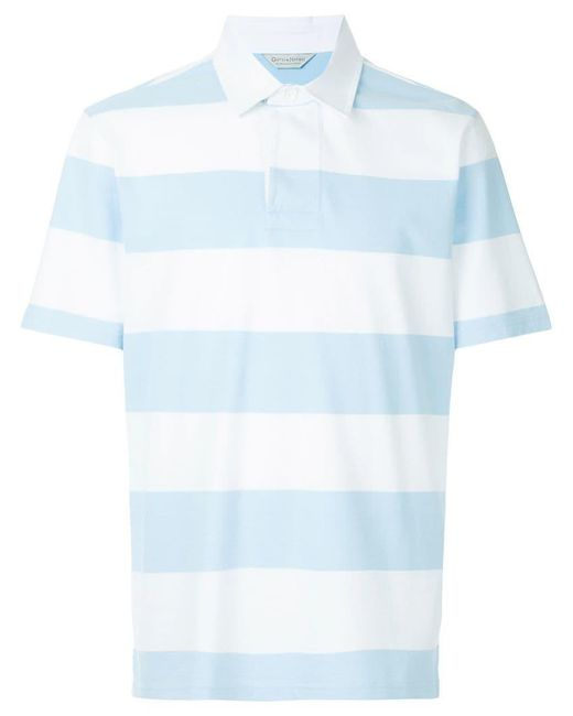 Gieves & Hawkes - Blue Gestreiftes Poloshirt for Men - Lyst