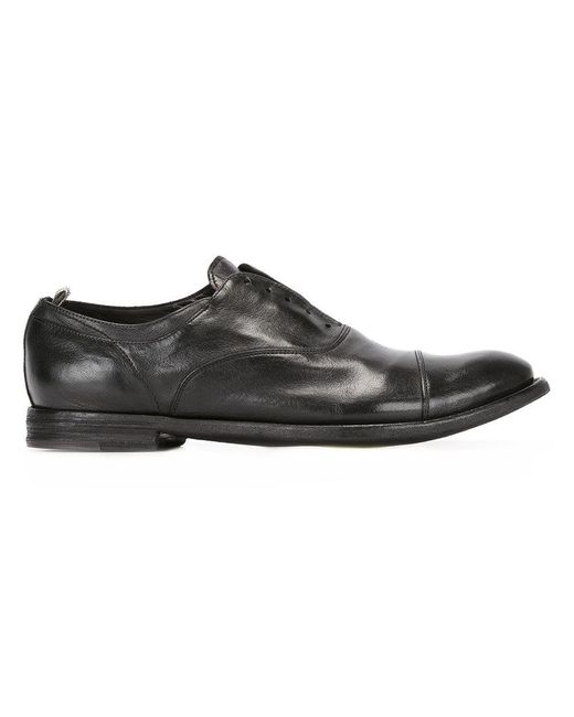 Officine Creative - Black Ignis Laceless Oxford Shoes for Men - Lyst