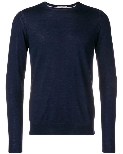 Paolo Pecora - Blue Long-sleeve Fitted Sweater for Men - Lyst
