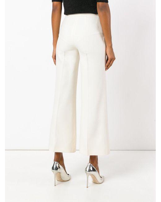 cropped flared trousers - White Fendi QrFsFKPo