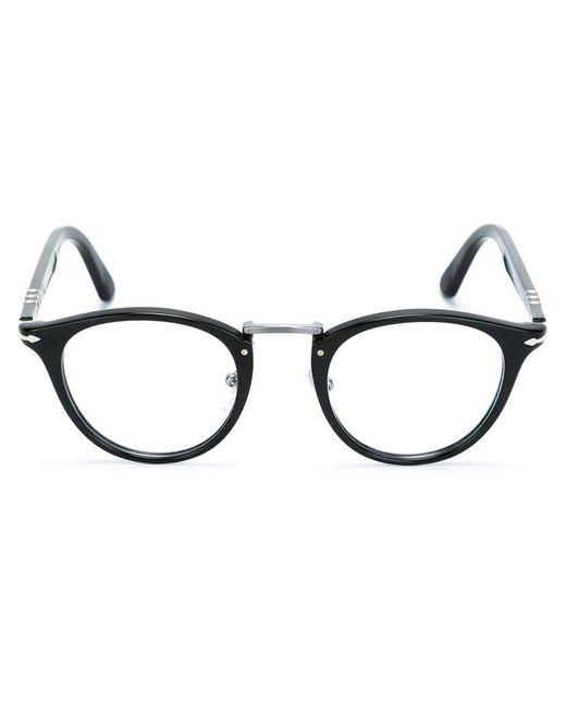 Persol - Black Round Frame Glasses - Lyst