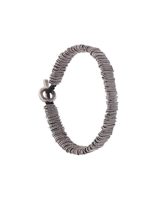 M. Cohen - Metallic Bar Beaded Bracelet for Men - Lyst
