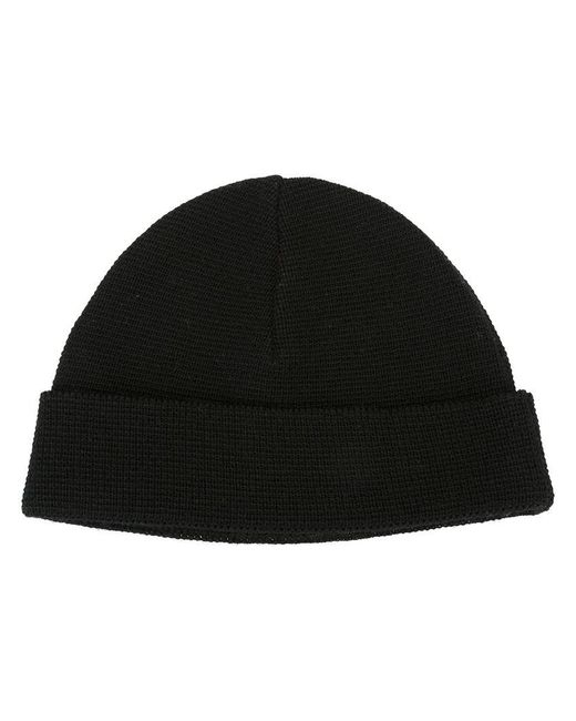 AMI | Black Merino Beanie Hat for Men | Lyst