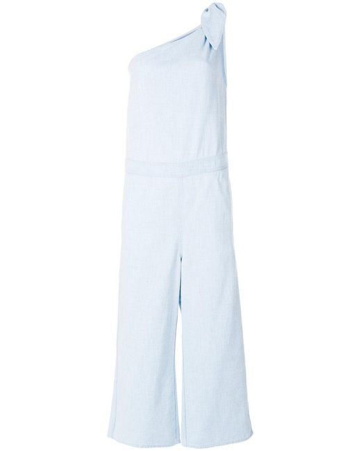 MM6 by Maison Martin Margiela - Blue Straight-fit Jumpsuit - Lyst