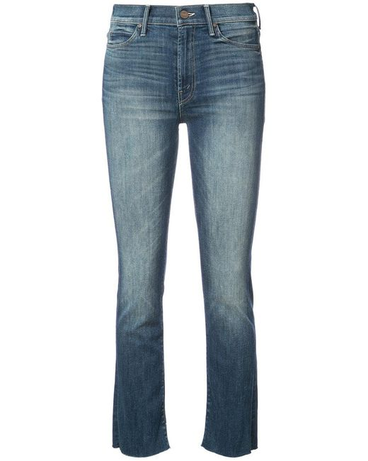 Mother - Blue High Rise Skinny Jeans - Lyst