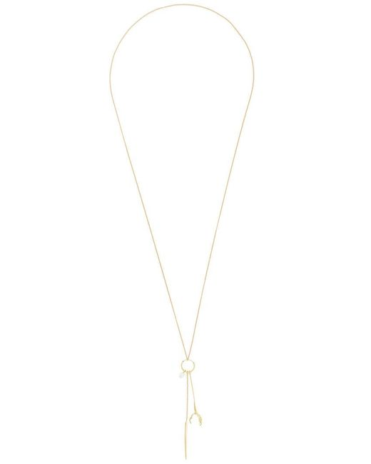 Wouters & Hendrix   Metallic 'spikes, Pearls And Claws' Long Necklace/earring   Lyst