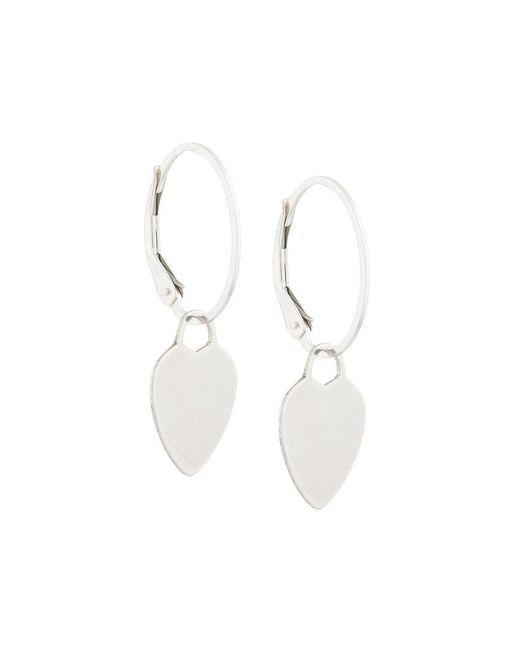 Petite Grand - Metallic Heart Earrings - Lyst