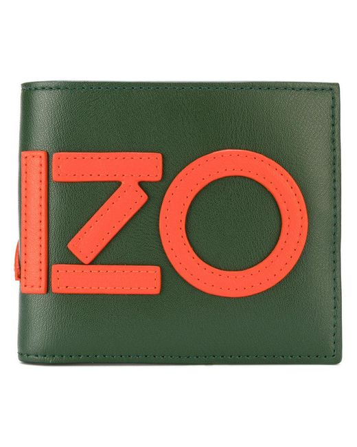 KENZO | Green Graphic Logo Wallet for Men | Lyst