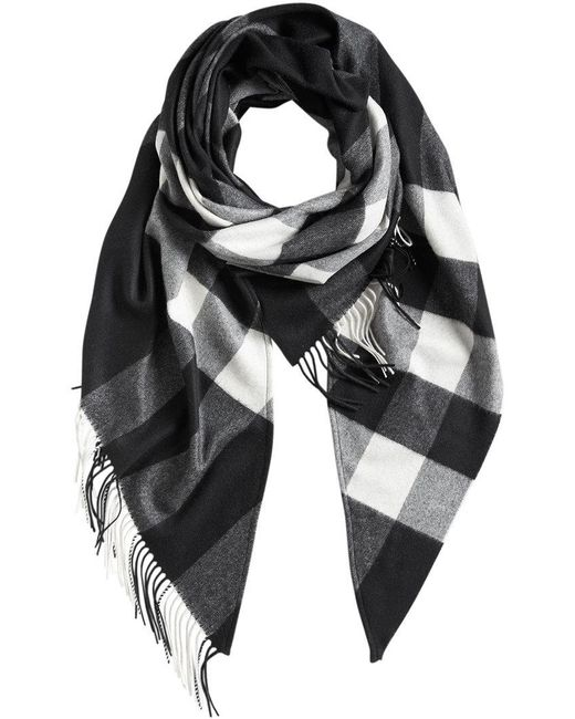 Burberry - Black Check Print Wrap - Lyst