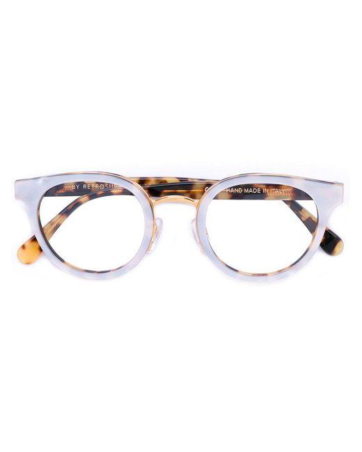 Retrosuperfuture | Metallic Tortoiseshell Round Frames for Men | Lyst