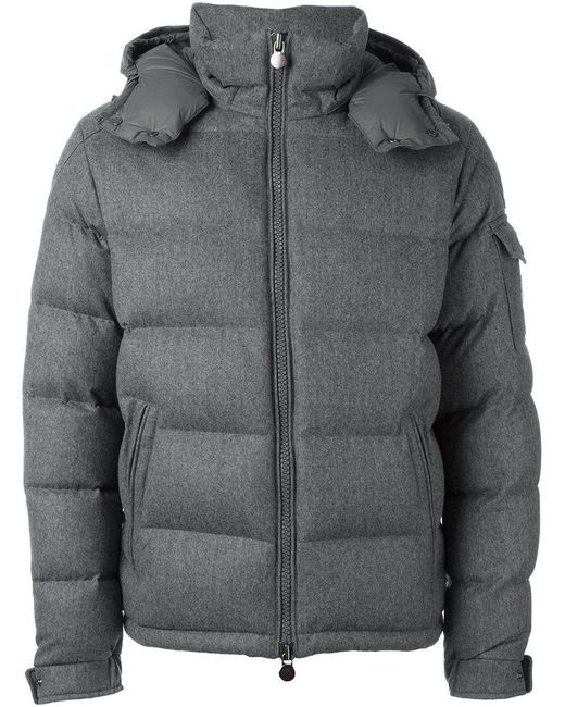 Moncler - Gray 'blais' Padded Jacket for Men ...