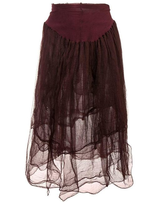 Marc Le Bihan - Red High-waisted Tulle Skirt - Lyst