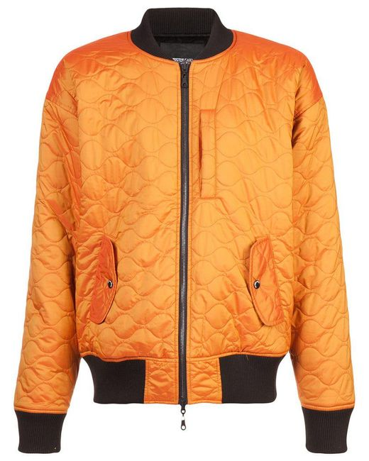 Mostly Heard Rarely Seen - Yellow Quilted Bomber Jacket for Men - Lyst