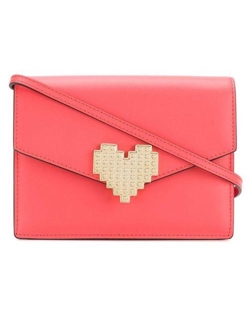 Les Petits Joueurs - Pink Lulu Heart Clutch Bag - Lyst