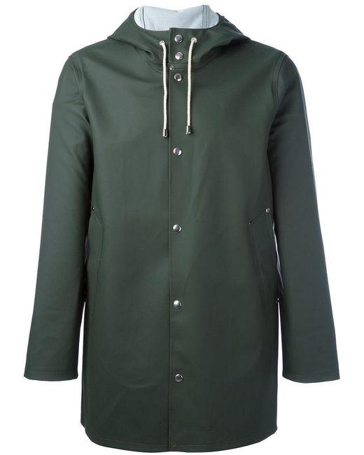 Stutterheim   Green Drawstring Hood Raincoat for Men   Lyst