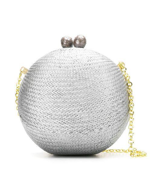 Serpui - Metallic Clutch Bag - Lyst