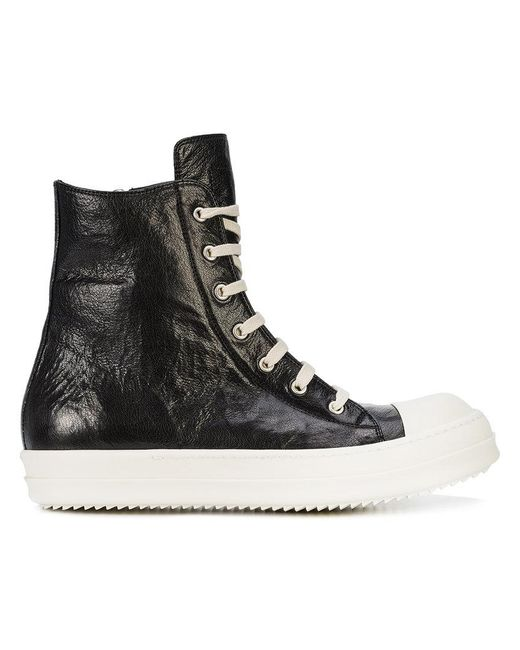 Rick Owens - Black High Ramone Sneakers for Men - Lyst