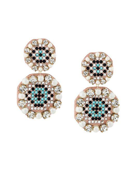 Shourouk - Multicolor Eye Pendant Earrings - Lyst