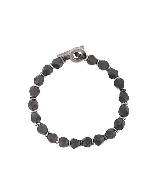 M. Cohen - Gray Beaded Bracelet for Men - Lyst