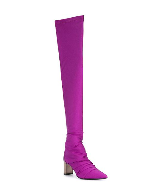 knee length boots - Pink & Purple Marc Cain