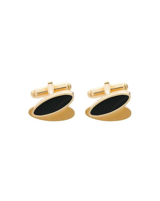 Lanvin - Metallic Oval Shaped Cufflinks for Men - Lyst