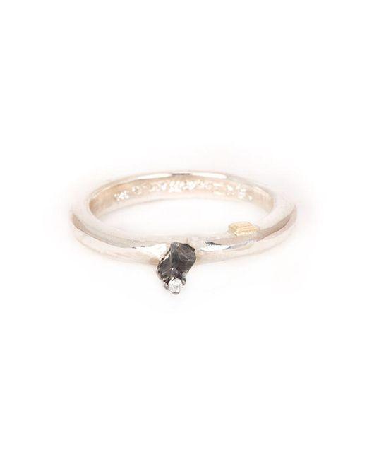 Rosa Maria - Metallic Solitaire Diamond Ring - Lyst