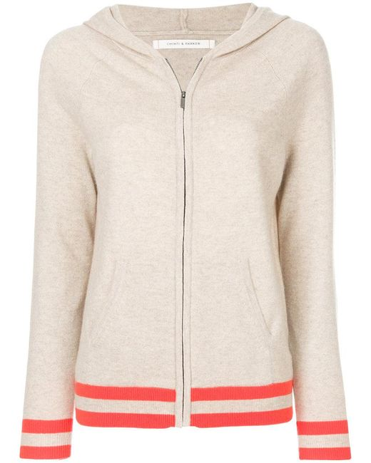 Chinti & Parker - Multicolor Striped Hem Zipped Hoodie - Lyst