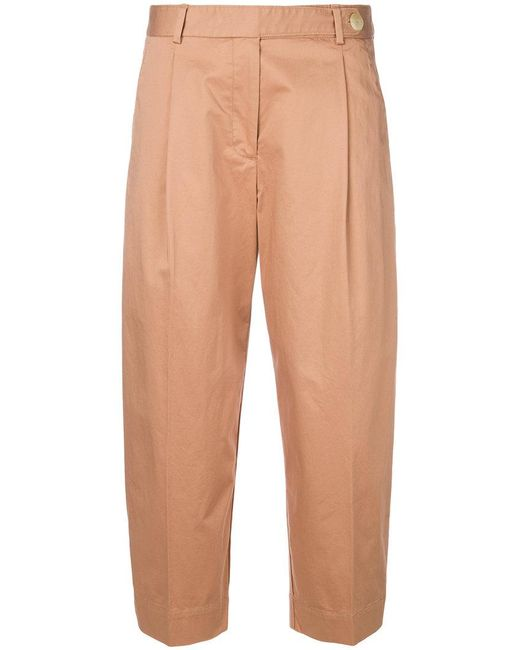 Mauro Grifoni - Natural Banana Cropped Trousers - Lyst