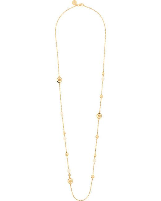 Tory Burch | Metallic Beaded Necklace | Lyst