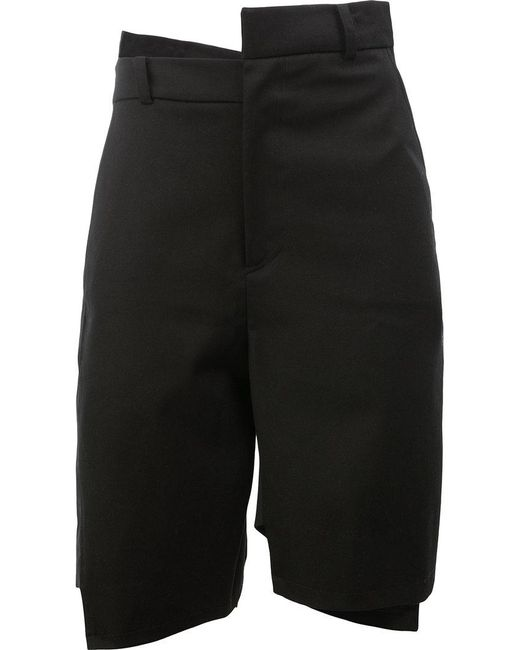Moohong | Black Asymmetric Tailored Shorts for Men | Lyst