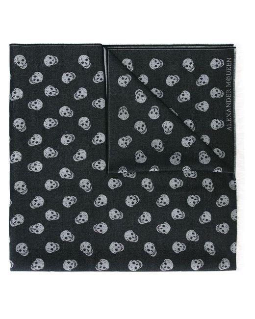 Alexander McQueen - Black 'skull' Knit Scarf for Men - Lyst