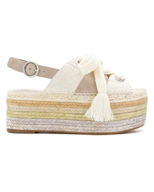 Chloé - Multicolor Qai Flatform Sandals - Lyst