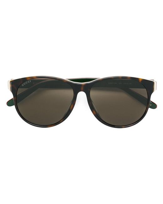2ed9cd7c33b Gucci - Brown Classic Tortoiseshell Sunglasses for Men - Lyst ...