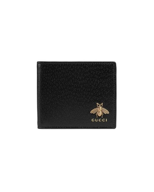 Gucci Black Animalier Leather Wallet for men