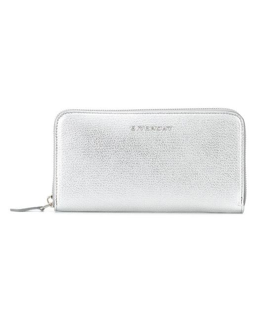 Givenchy | Gray Zip Around Purse | Lyst