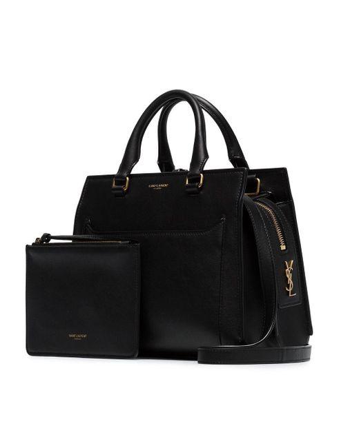 f202ec52d52f ... Saint Laurent - Black Eastside Baby Cabas Shoulder Bag - Lyst