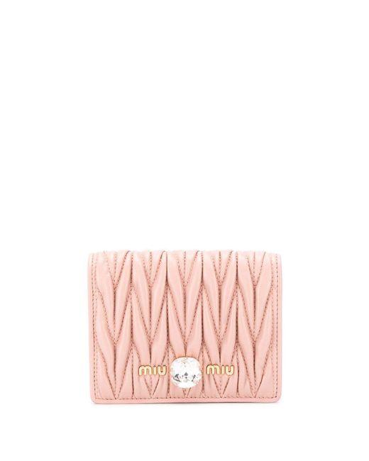 Miu Miu マテラッセ 財布 Pink