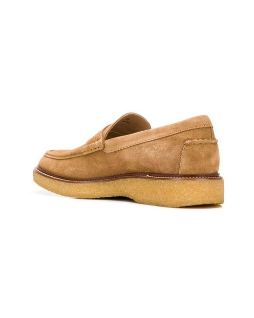 490bd58d2bb Tod s Rubber Sole Penny Loafers in Natural for Men - Lyst