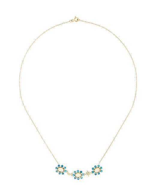 Ileana Makri - Metallic Night Flower Necklace - Lyst