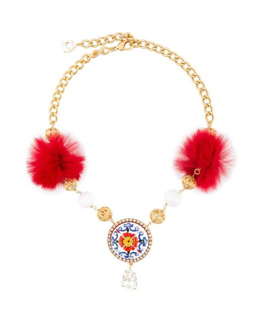 Dolce & Gabbana | Metallic Decorative Necklace | Lyst