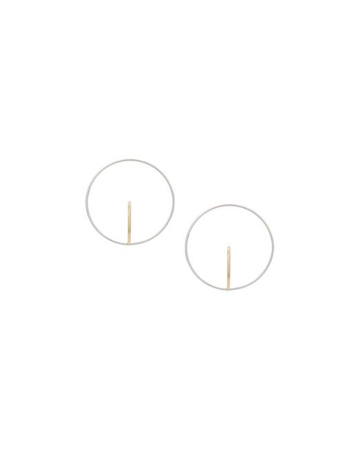 Charlotte Chesnais - Metallic Large Saturn Gold-plated Earrings - Lyst