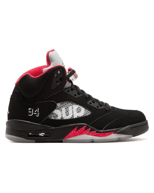 Supreme - Black Zapatillas Air Jordan 5 Retro for Men - Lyst