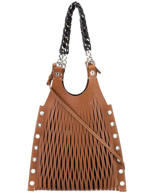 Sonia Rykiel - Brown Laser Cut Crossbody Bag - Lyst