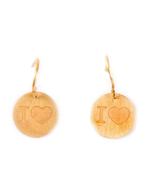 Marie-hélène De Taillac - Metallic 22kt Gold 'i Love' Earrings - Lyst