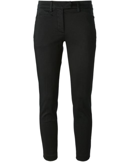 Dondup - Black Cropped Chino Trousers - Lyst