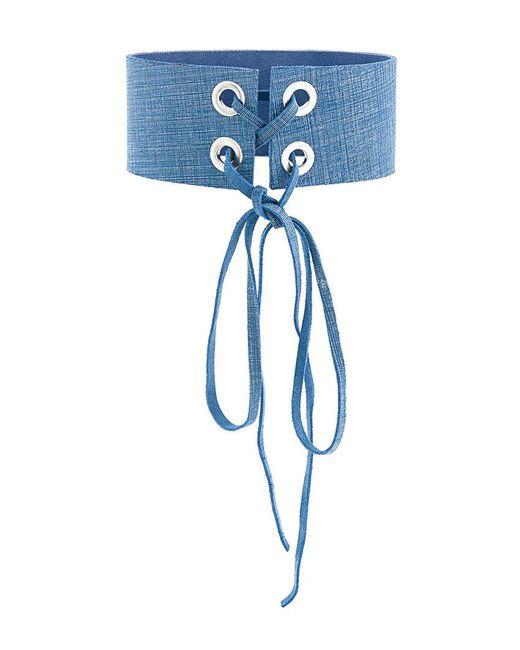 Manokhi - Blue Mira Denim Choker - Lyst