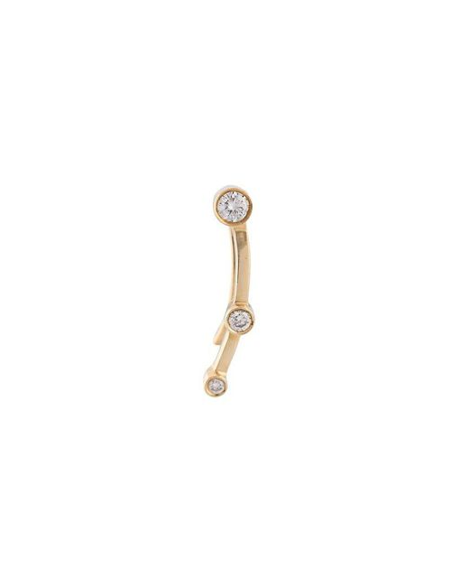 Sophie Bille Brahe - Yellow 24kt Gold Calder Trois Diamond Earring - Lyst
